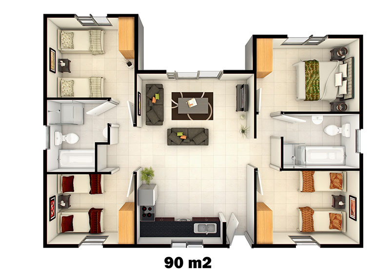 Home-Plan-90m2