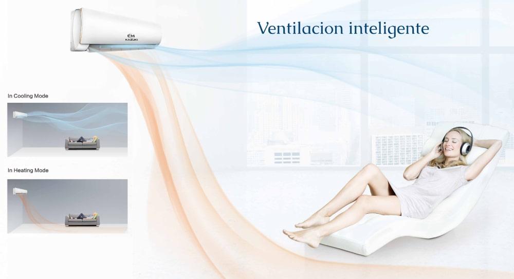 Aire acondicionado flujo aire inteligente